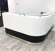 White Curved Reception Desk Kubist Reception Desk Arnold Contract