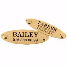 Custom Gold Dog Tags Engraved Personalized Gold Plated Id Dog Tags For Pets Collardirect
