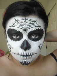 christina d makeup simple sugar skull calavera