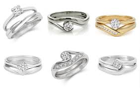 shaped wedding ring shaped to fit wedding rings