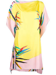 emilio pucci floral print tunic q84 pink yellow women clothing