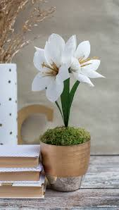 Make Your Own Paper Flowers - diy crepe paper amaryllis lia griffith