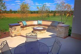 Concrete Patio Bench Klein U0027s Lawn U0026 Landscaping Hardscapes Patios