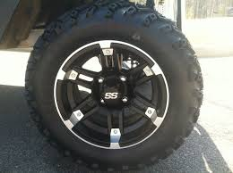 king of carts 12 inch baracuda wheel and all terrain tire combo