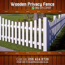 wooden fence in uae