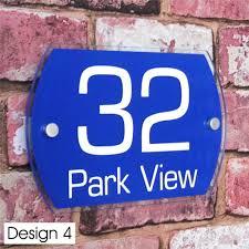 glass door number signs modern house sign door number street address plaque glass effect