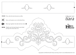 printable princess crown template online calendar templates