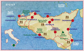 Map Of Italy And Sicily by Small Group Walking Tour Sicily