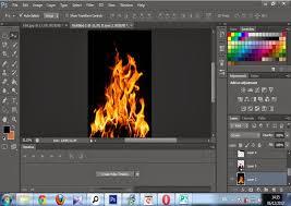 cara desain komunikasi visual desain komunikasi visual membuat foto efek api melalui photoshop
