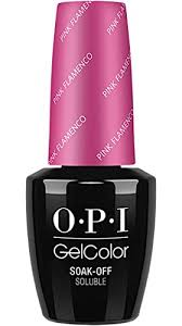 opi gelcolor by soak off gel laquer nail polish pink flamenco gc