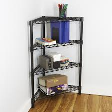 Wire Shelving Desk Industrial Post Racks Carts And Steel Wire Shelving Ideas Storables
