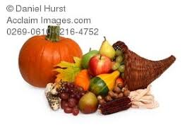 photo of thanksgiving cornucopia of fruits and vegetables