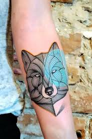 Forearm Wolf - wolf meaning tribal wolf sign