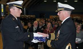 Flag Ceremony Meaning File U S Navy Officer Candidate Jeremiah Perron Left Gives A