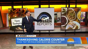 thanksgiving today the today show rossen reports thanksgiving calorie counter youtube