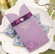 wedding invitations with ribbon purple pink 3 colors wedding invitation with ribbon and