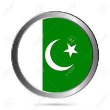 Oakistan Flag Pakistan Flag Button On A White Background Vector Illustration