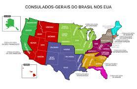 District Maps Of Jurisdiction Washington by Consulados Brasil Eua Port Png