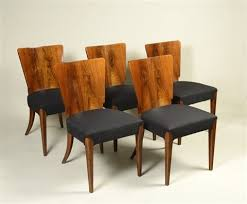 art deco dining table with five chairs by jindrich halabala on artnet
