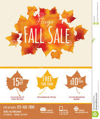 fall sale flyer template stock vector image 61085125