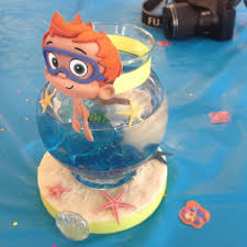 bubble guppy birthday table centerpiece with real betta fish for