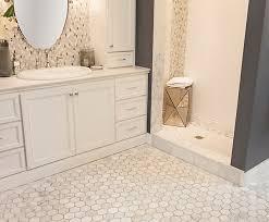 Marble Mosaic Floor Tile Modern Carrara Mosaic Floor Tile Eizw Info