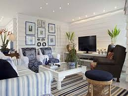 coastal themed living room white coastal themed living room with striped sofa and