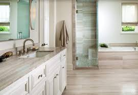 Traditional Master Bathroom With Flat Panel Cabinets  Frameless - White cabinets master bathroom