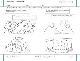 29 best social studies images on pinterest landforms worksheet