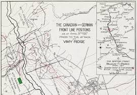 Ww1 Map Vimy Maps Canada U0027s First World War Experience