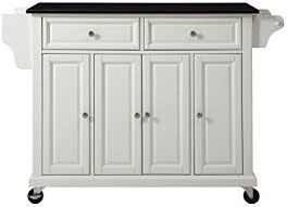 white kitchen cart island amazon com crosley furniture rolling kitchen island with solid