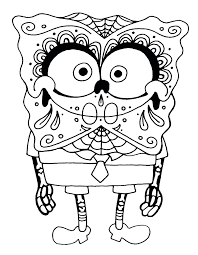 sugar skull coloring pages picture enlarge