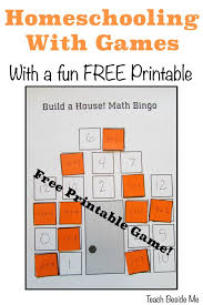 homeschooling with games with a free math game teach beside me