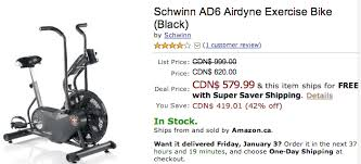 amazon ca black friday sale amazon ca todays deals save 42 on schwinn ad6 airdyne exercise