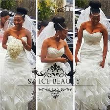 wedding dress korean 720p aliexpress buy cascading ruffles mermaid wedding dress