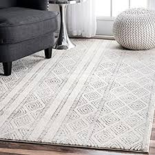 How To Clean A Fluffy Rug Amazon Com Nuloom Spre14a 508 Natural Hand Knotted Fez Shag Area