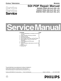 philips sdi pdp s42sd yd09 s42ax yd02 s50hw yd01 repair manual