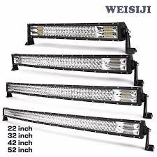 52 inch led light bar cover most powerful triple row 50 inch lightbar 4x4 curved led light bar