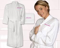 robe de chambre homme personnalisé cadeau brodé peignoir femme personnalisé au prénom