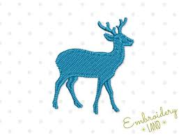 small deer filled embroidery design by embroideryland