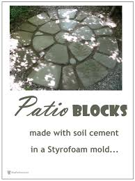 Make Your Own Patio Pavers Patio Blocks Make Your Own Soil Cement Diy Pavers