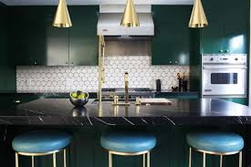 Tile Kitchen Backsplash View In Gallery Green Kitchen With Swiss - Green kitchen tile backsplash