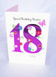 happy 18th birthday card for her girls womens female poem verse