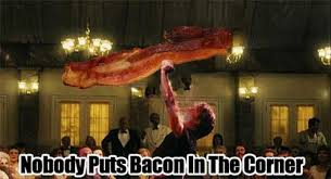 Dirty Dancing Meme - bacon funnies shared by lovestorm20 on we heart it