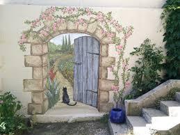 Garden Wall Paint Ideas Garden Wall Paint Ideas 25 Unique Garden Mural Ideas On Pinterest