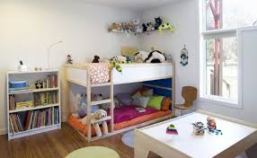 Plans For Building A Loft Bed With Storage by Toddler Bunk Beds That Turn The Bedroom Into A Playground