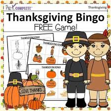 thanksgiving bingo by pre k complete teachers pay teachers