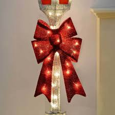 pre lit victorian style christmas lamp post with warm led lights