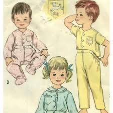 images of 2 in one pajamas vintage childrens pajamas