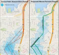 Seattle Subway Map by Fairview U0026 Virginia New Transit Pathways For Slu